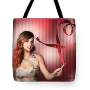 Romantic Woman In A Whirlwind Love Romance Tote Bag