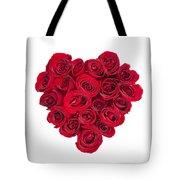 Rose Heart Tote Bag by Elena Elisseeva