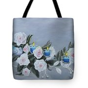 Roses And Candlelight Tote Bag