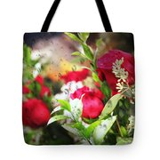 Roses In The Rain Tote Bag