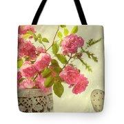 Roses In Watering Can Tote Bag