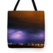 Round 2 More Late Night Servere Nebraska Storms Tote Bag