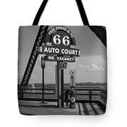 Route 66 - Chain Of Rocks Bridge And Gas Pump Tote Bag