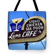 Route 66 - Luna Cafe Tote Bag