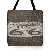 Route 66 - Oklahoma Shield Tote Bag