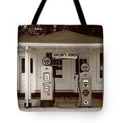Route 66 - Soulsby Station Pumps Tote Bag
