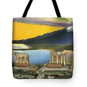 Ruins Of The Greek Theatre At Taormina Tote Bag