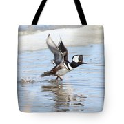 Running On The Water Tote Bag