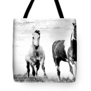 Running Wild Black And White Tote Bag