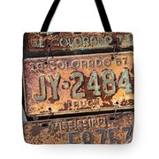 Rusted Plates Tote Bag