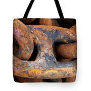 Rusty Steel Chain Detail Tote Bag