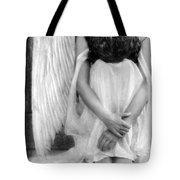 Sad Angel Woman Tote Bag