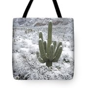 Saguaro Cactus After Rare Desert Tote Bag