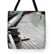 Sail Boat Rope Tote Bag