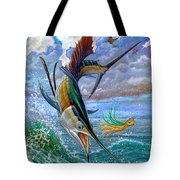 Sailfish And Lure Tote Bag