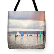 Sailing On Marine Lake A Reflection Tote Bag
