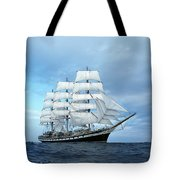 Sailing Ship Tote Bag by Anonymous