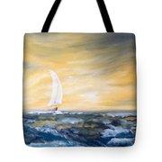 Sails At Sunset Tote Bag