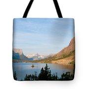 Saint Mary Lake And Wild Goose Island Tote Bag