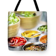 Salad Bowls With Mixed Fresh Vegetables Tote Bag