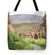 Salt River Above Roosevelt Lake Tote Bag