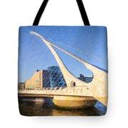 Samuel Beckett Bridge Dublin Tote Bag