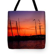 San Diego Harbor Sunset Tote Bag