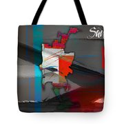 San Diego Map Watercolor Tote Bag