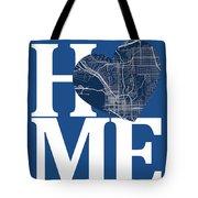 San Diego Street Map Home Heart - San Diego California Road Map  Tote Bag