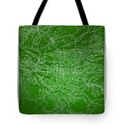 San Jose Street Map - San Jose Costa Rica Road Map Art On Colore Tote Bag