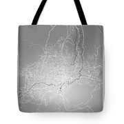 San Salvador Street Map - San Salvador El Salvador Road Map Art  Tote Bag