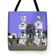 San Xavier Mission Sketched By Art Students C. 1930 Tucson Arizona Tote Bag
