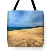 sandy beach in Piscinas Tote Bag