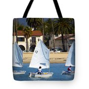Santa Barbara Harbor Yacht Race Tote Bag