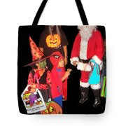 Santa Trick Or Treaters Halloween Party Casa Grande Arizona 2005 Tote Bag