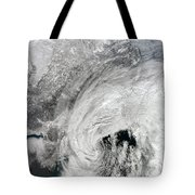 Satellite View Of A Large Noreaster Tote Bag