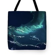 Satellite View Of Turks And Caicos Tote Bag