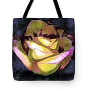 Scanned Rose Water Color Digital Photogram Tote Bag