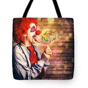 Scary Circus Clown At Horror Birthday Party Tote Bag