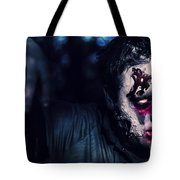 Scary Zombie Looking Gravely Ill. Monster Disease Tote Bag