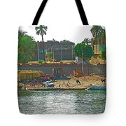 Scene Along Nile River Between Luxor And Qena-egypt  Tote Bag