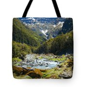Scenic Valley In New Zealand Tote Bag