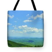Scenic View Of Mountain Range, Blue Tote Bag