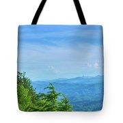 Scenic View Of Mountain Range Tote Bag