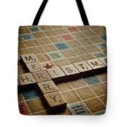 Scrabble Merry Christmas Tote Bag