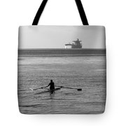 Sculling On The Bay Tote Bag