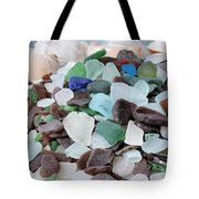 Sea Glass In Many Colors Tote Bag