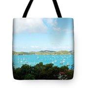 Sea Of Sailboats Tote Bag