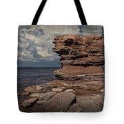 Sea Stack At North Cape On Prince Edward Island Tote Bag