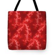 Seamless Fractal Red Tote Bag
